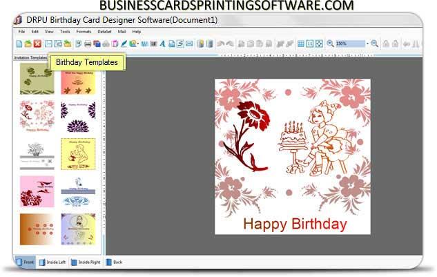 Windows 7 Birthday Cards Printing Software 8.2.0.1 full