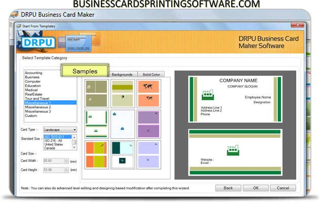 Business Cards Printing Software