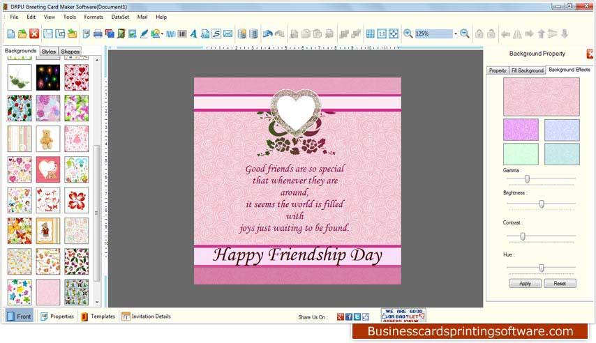 Windows 7 Greeting Cards Designing Software 8.3.0.1 full
