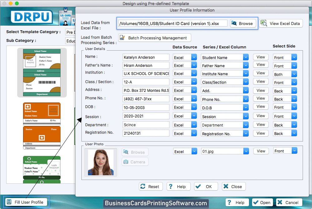 Students Id Cards Maker For Mac Screenshots To Know How To Design Id Cards
